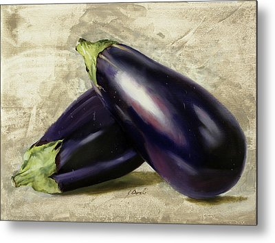 Eggplants Metal Prints