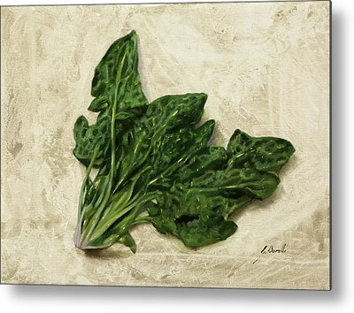 Spinach Metal Prints
