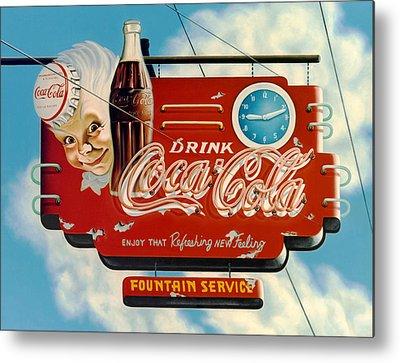 Coca-cola Signs Metal Prints