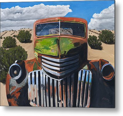 Old Chevy Truck Metal Prints