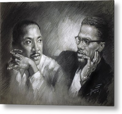 African American Drawings Metal Prints
