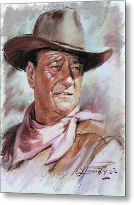 John Wayne Metal Prints
