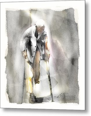 Crutch Digital Art Metal Prints