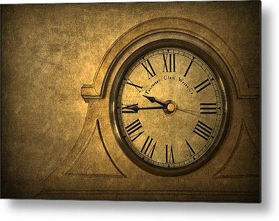 Old Clock Metal Prints