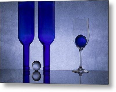 Glass Sphere Metal Prints