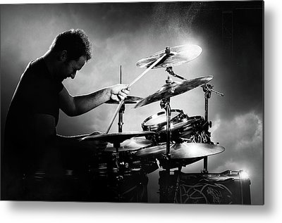 Rock And Roll Drummer Metal Prints