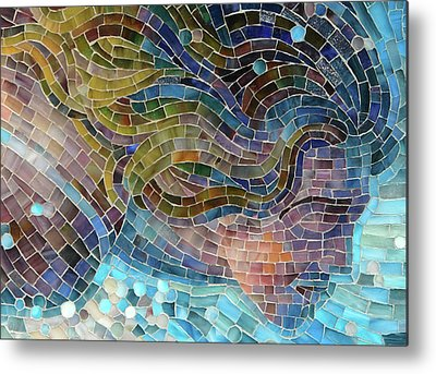 Stained Glass Metal Prints