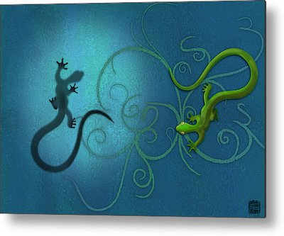 Lizard Metal Prints