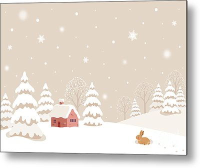 Designs Similar to Winter Landscape With Rabbit