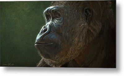 Gorilla Digital Art Metal Prints