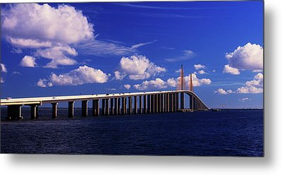 Sunshine Skyway Bridge Metal Prints