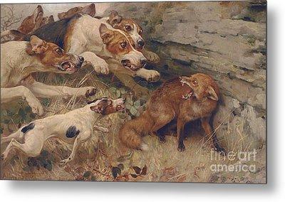 Barking Paintings Metal Prints