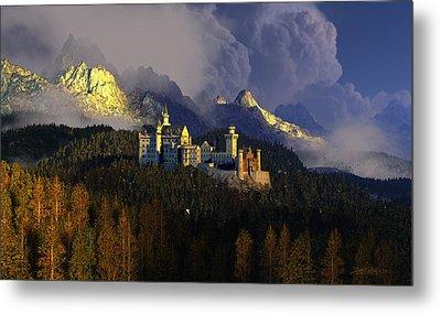 Castle Digital Art Metal Prints