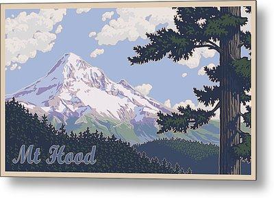 Mount Hood Photographs Metal Prints