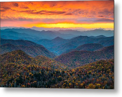 Mountain Sunset Metal Prints