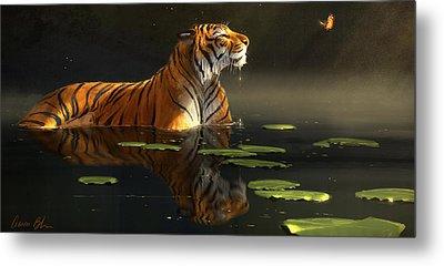Wildlife Digital Art Metal Prints