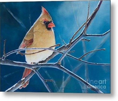 Bird Feeder Metal Prints