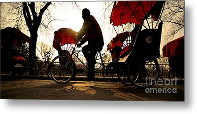 Rickshaws Metal Prints