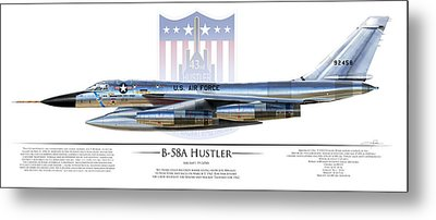 Nuclear Bomber Metal Prints
