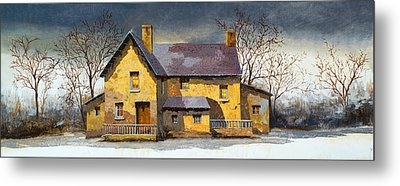 Stone House Metal Prints