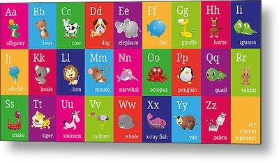 Alphabet Metal Prints