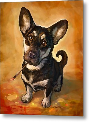 Dog Art Metal Prints