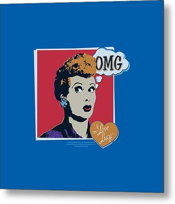 I Love Lucy Metal Prints