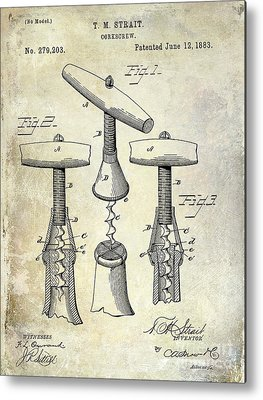 Antique Corkscrew Metal Prints