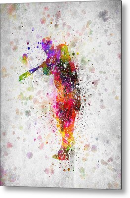 Softball Metal Prints