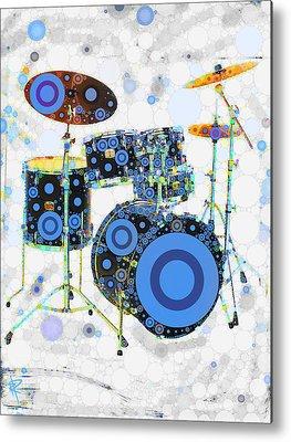 Drum Circle Metal Prints