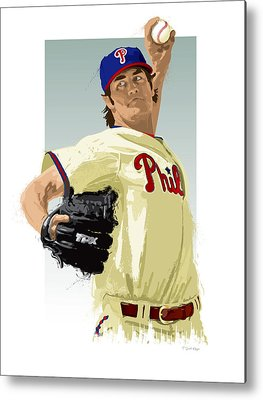 Cole Hamels Metal Prints