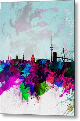 Hamburg Digital Art Metal Prints