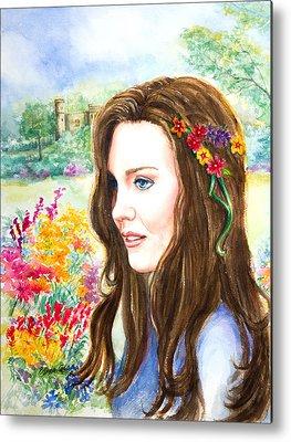 Kate Middleton Paintings Metal Prints