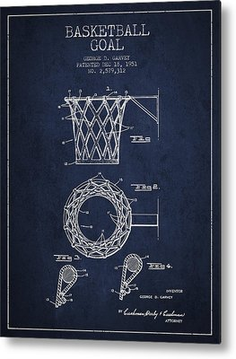 Basketball Goal Patent Metal Prints