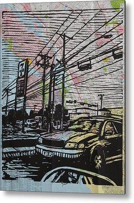 Burnet Road Drawings Metal Prints