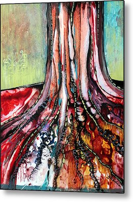 Tree Roots Mixed Media Metal Prints