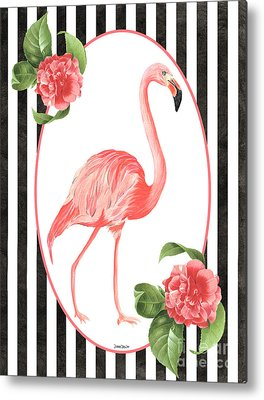 Flamingo Flower Metal Prints