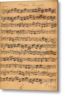 Music Score Metal Prints