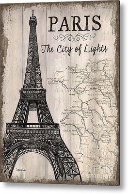 Paris Mixed Media Metal Prints