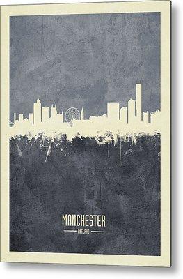 Manchester Skyline Metal Prints
