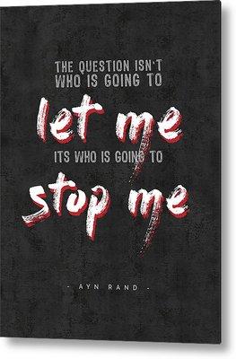 Ayn Rand Metal Prints