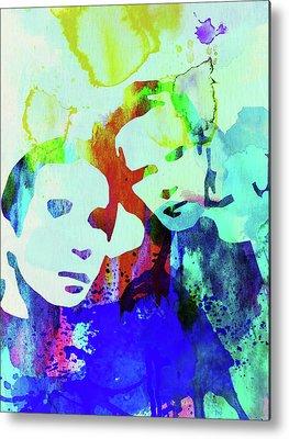 Simon And Garfunkel Mixed Media Metal Prints