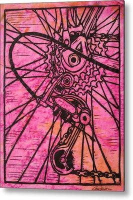 Linoluem Drawings Metal Prints