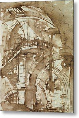 Stairwell Drawings Metal Prints
