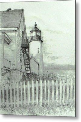 Pemaquid Lighthouse Drawings Metal Prints