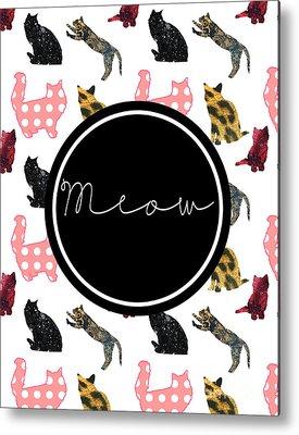 Meow Metal Prints