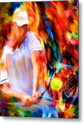Tennis Player Metal Prints