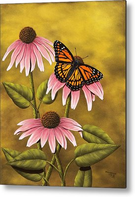 Coneflower Metal Prints