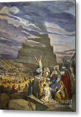 Tower Of Babel Gustave Dore Metal Prints