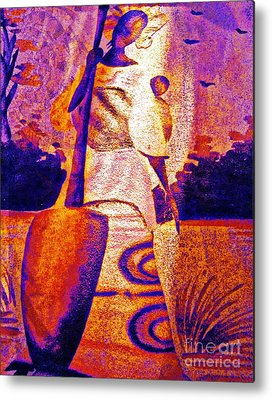 Concubine Mixed Media Metal Prints